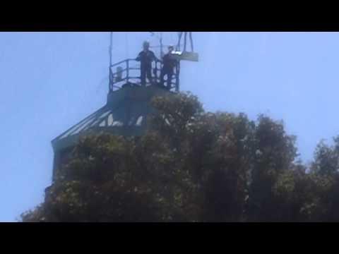 Mount Diablo Beacon Lifting 2013 Photo Op (camera 2)
