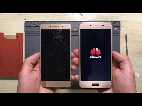 """Ремонт за 15 минут! Huawei Y5 II замена дисплея, тачскрина (разбор)  --- СЦ """"UPservice"""" г.Киев"""
