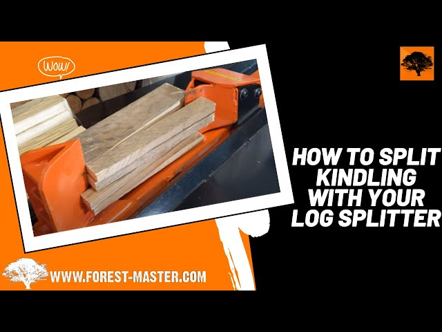 Forest Master FM10 Electric Log Splitter - Splitting Kindling