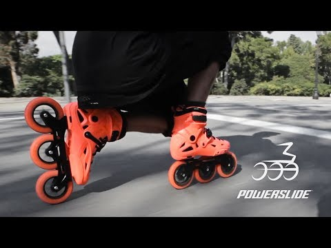Mega - Nick Lomax on Powerslide Imperial Megacruiser 125 skates 🍊🍊🍊 Powerslide Inline skating
