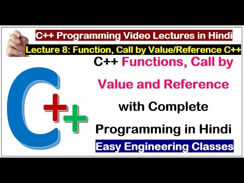 C++ in Hindi - Functions, Call by Value and Reference with Complete Programming in Hindi
