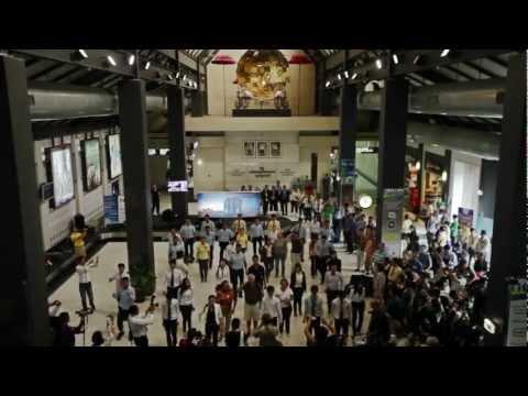 Flash Mob at Siem Reap International Airport