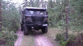 Мы не едем быстро!Мы едем везде (off-road) за черникой на шишарике Белорусские дебри газ 66 (GAZ 66)