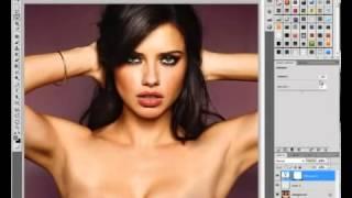 +18 Adriana Lima Celebrity Photoshop CS5