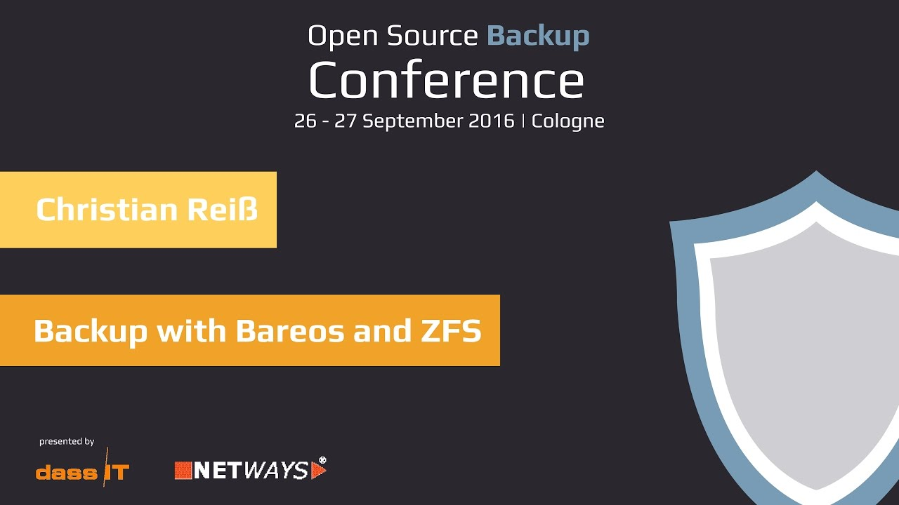 OSBConf 2016:Backup with Bareos and ZFS | Christian Reiß