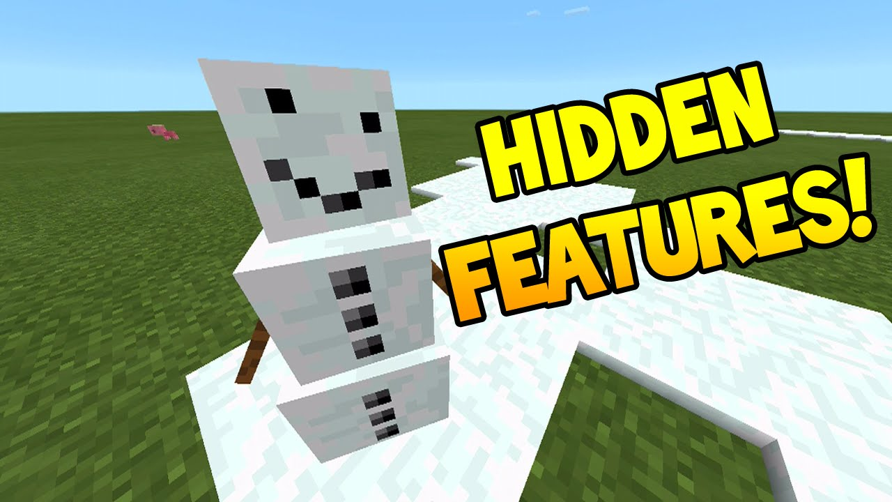 minecraft pocket edition update new hidden