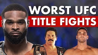 10 Worst Title Fights In UFC History