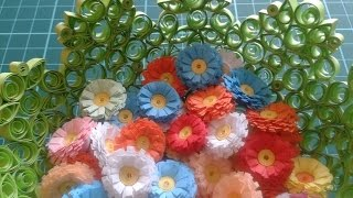 cute and easy quilling flowers  - Quilling Blumen