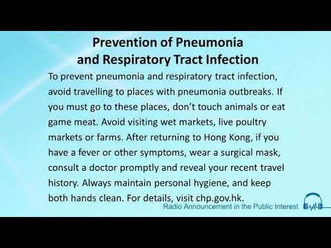 Prevention Of Pneumonia And Respiratory Tract Infection