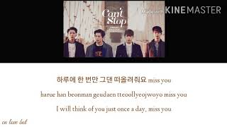 Gambar cover Can't Stop (Lyrics) - CNBLUE (씨엔블루)