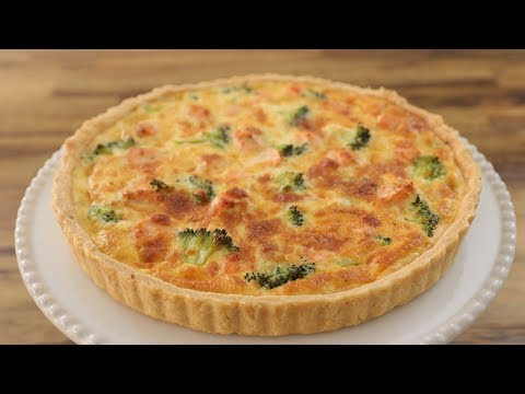 Salmon and Broccoli Quiche Recipe