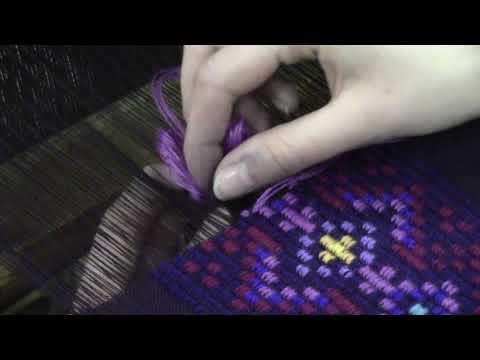 Тканые вставки для платья в технике переборного ткачества