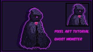 Pixel Art Tutorial: [Ghost Creature] - (Speed Art)