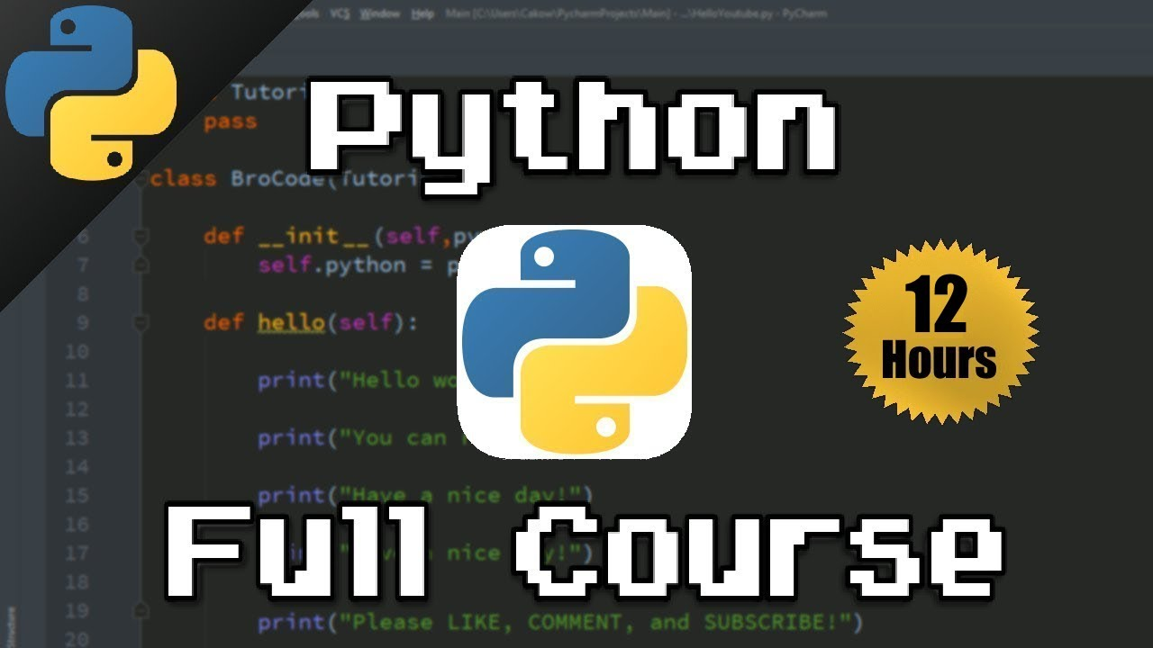 Python Full Course For Beginners 🐍 (𝙁𝙧𝙚𝙚)