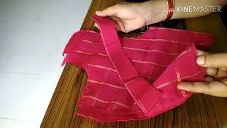 Lining blouse stitching/ లైనింగ్ బ్లౌజ్ కుట్టే విధానం.