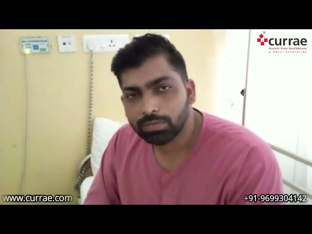 Mr. Jayesh Patil   Kidney Stone Surgery   Dr. Soumyan Dey(Consultant - Urologist)   Currae Hospitals