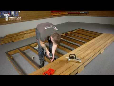 Thermory pine decking installation video - PC clip