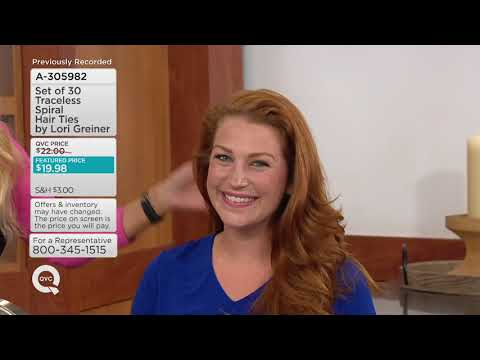 Set of 30 Traceless Spiral Hair Ties by Lori Greiner on QVC