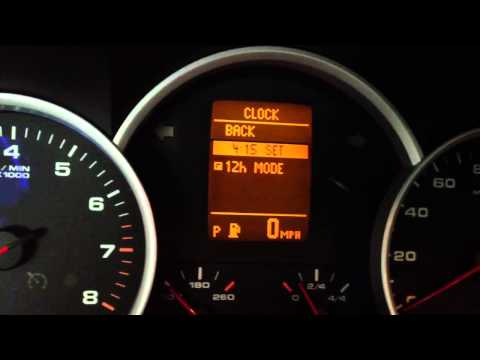How to adjust the time on a Porsche Cayenne