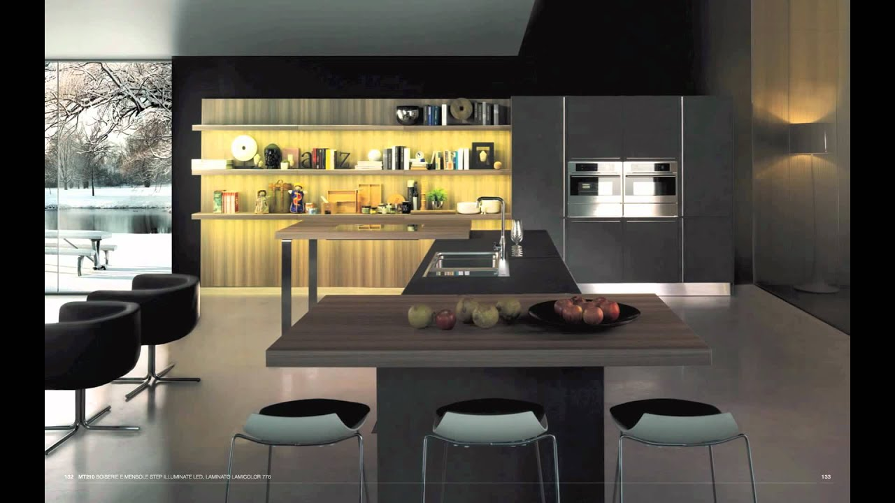 Cuisiniste cuisine moderne design mt210   youtube