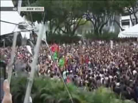Singapore - Protest Against Rich Foreigners (NHK)