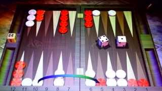 Backgammon game.  With music.