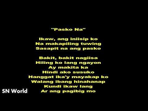 Darren Espanto - Pasko Na (Lyric)