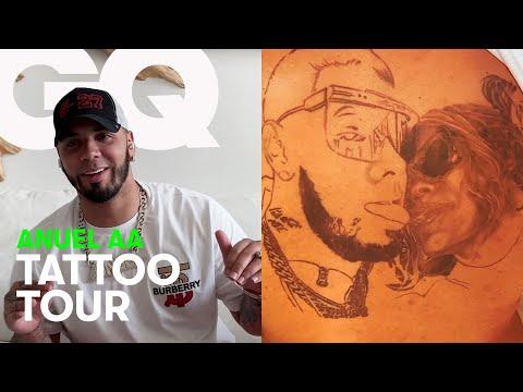 Anuel AA nos enseña sus espectaculares tatuajes | Tatto Tour | GQ España
