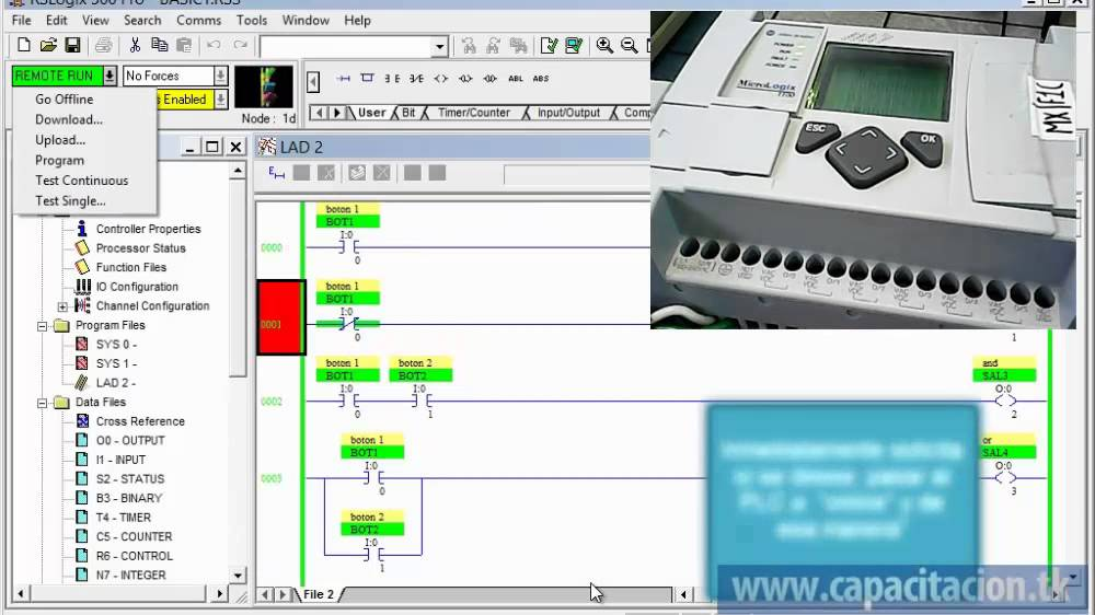 PLC Allen Bradley Micrologix, programación básica - YouTube