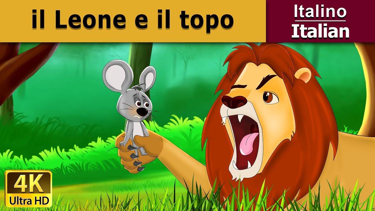 Il leone e topo favole per bambini storie