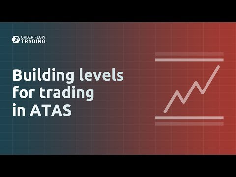 Building levels for trading in ATAS.