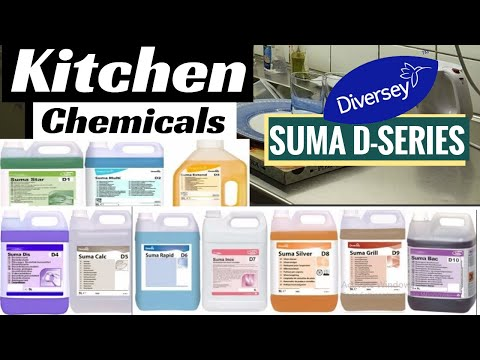 Different Types Of Kitchen Cleaning Chemicals: Suma D - Series Chemicals (Diversy/Taski/Suma)