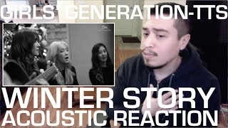 Girls' Generation TTS Winter Story (Live Acoustic) REACTION