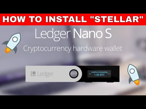 HOW TO INSTALL STELLAR IN THE LEDGER