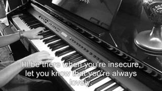 Chris Brown - Next To You (on piano, lyrics, HQ)
