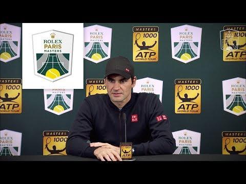 Press conference : Roger Federer after his defeat against Novak Djokovic | Rolex Paris Masters