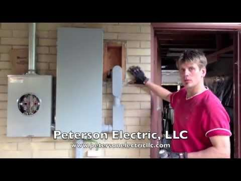 Overhead Electrical Panel & Meter Service Change - Part 2, Loveland Electrician, CO