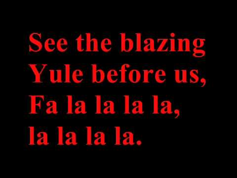 Deck the halls full band version with lyrics - Christmas song ...