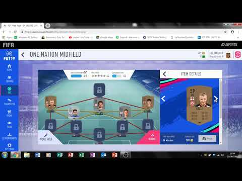 FIFA 19- CHEAPEST Way To Do The One Nation Midfield SBC