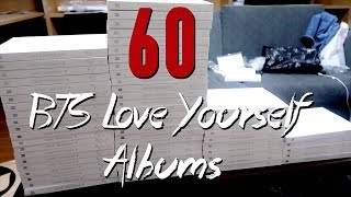 UNBOXING 60 BTS LOVE YOURSELF FANSIGN ALBUMS + GIVEAWAY MP3