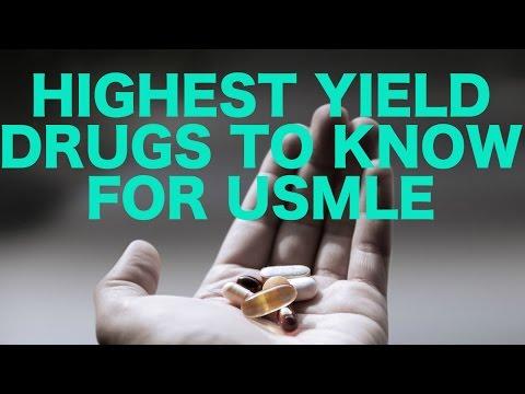 Highest Yield Drugs for USMLE