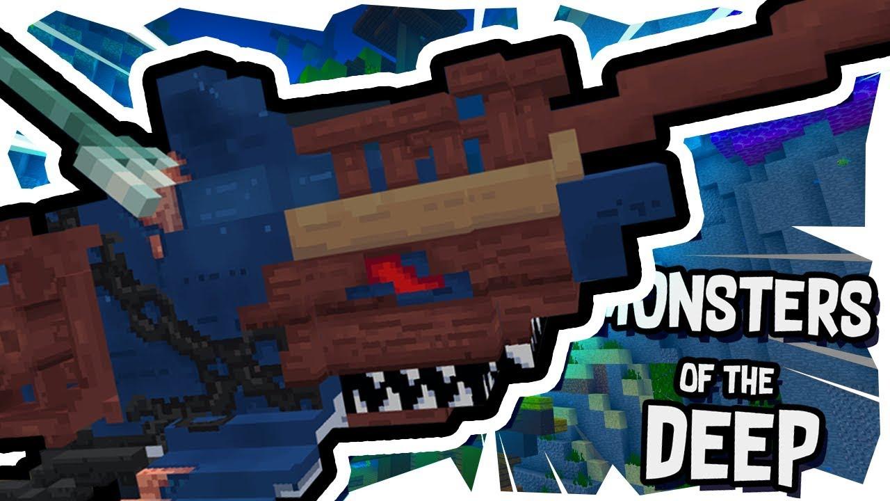 SHIPWRECK SHARK!! || Minecraft || Monsters of the Deep || Episode 1