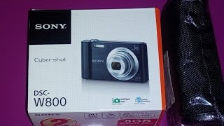 Unboxing & Overview | Sony Cybershot DSC W800 20.1mp digital camera review