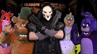 Overwatch Reaper Vs Five Nights At Freddy's - FNAF Live Action Parody