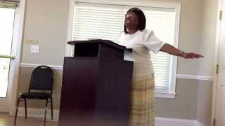 "Evangelist Charmaine Jones.                                ""David encouraged himself"""