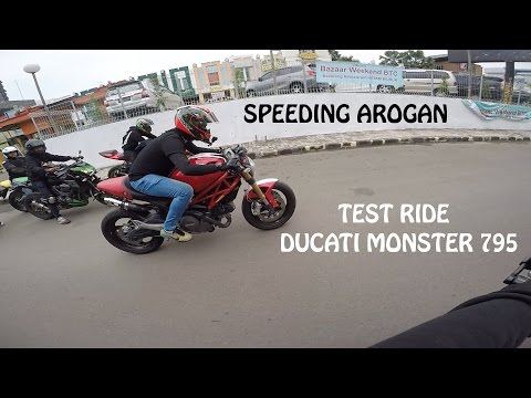 Test Ride Ducati Monster 795 - Speeding Arogan, Mesin Vespa Jebol? #ikyciwirmotovlog