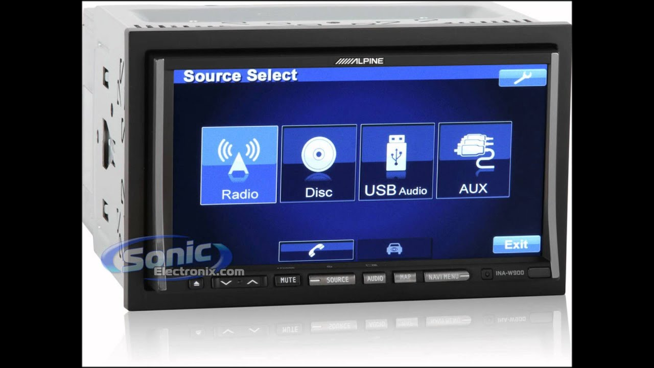 alpine ina w900bt double din head unit full photos youtube. Black Bedroom Furniture Sets. Home Design Ideas