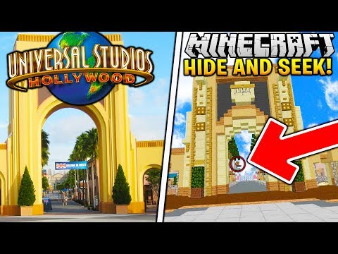 THE BEST HIDING SPOTS AT UNIVERSAL STUDIOS! - Minecraft Hide N' Seek Mod
