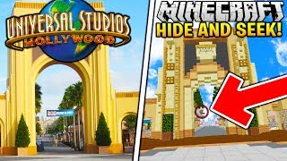 THE BEST HIDING SPOTS AT UNIVERSAL STUDIOS! - Minecraft Hide N