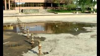 В Братске не работает фонтан у драмтеатра